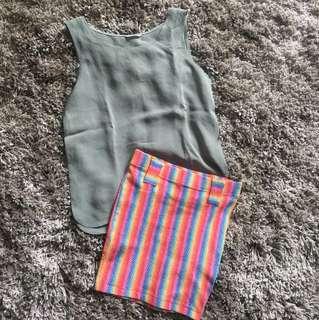 Plain Top + Skirt