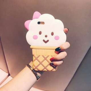 Ice Cream Rubber Case For iPhone 6/7/8/X