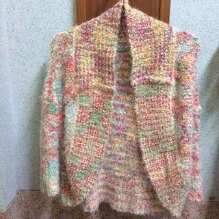 綿花糖 混色針織外套