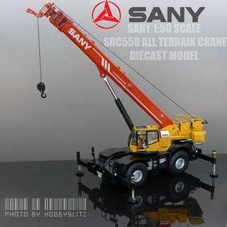 Brand new Sany 1:50 Scale SRC550 All Terrain Mobile Crane diecast model