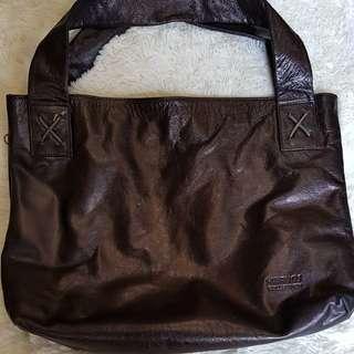 REPRICED!Marvos Black Leather Bag!