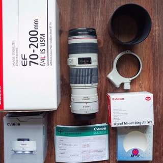 Canon EF 70-200 F4L IS USM + Mount Ring