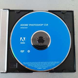 Adobe Photoshop CS4 Installation Disc (正版安裝碟) (DVD Disc only, not include serial number)