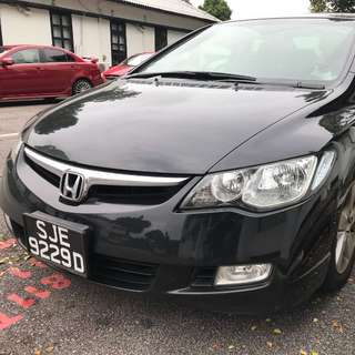 Honda Civc 1.8A for Uber and Grab