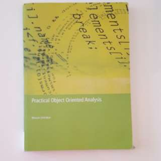 Practical object oriented analysis textbook