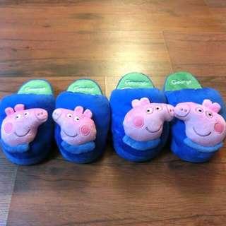 🚚 含運 小朋友 可愛 冬天 室內拖鞋 佩佩豬 正版(含運限全家店到店取貨)