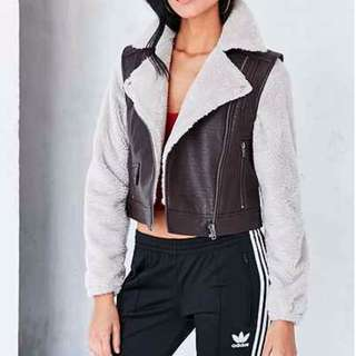 Urban Outfitters BDG Cozy Combination Moto Jacket