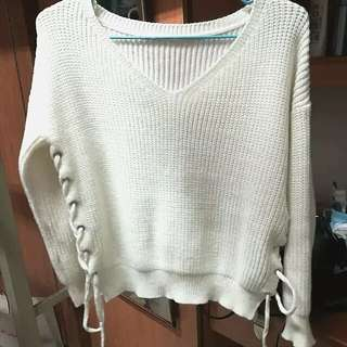 White Knitted Sweater 白色冷衫