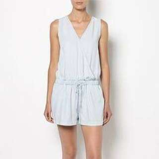 WITCHERY chambray playsuit