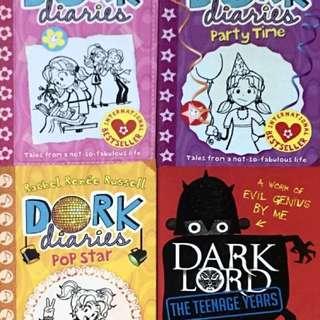 DORK DIARIES BOOKS - $20 FOR 4