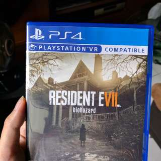 PS4 Resident Evil 7 free delivery