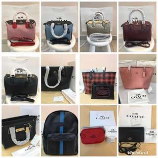 (Ready Stock promotion)Authentic coach Messenger Bag Handbag wallet purse Tote sling bag purse Michael Kors MK Kate Spade