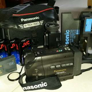 PANASONIC PALMCORDER VHS-C VIDEO CAMERA S800