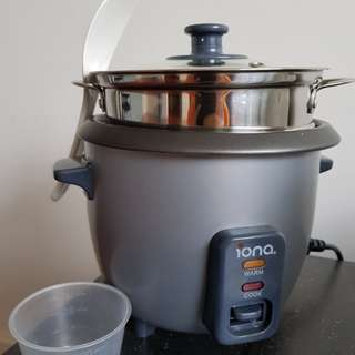 Rice Cooker with Steamer Compartment