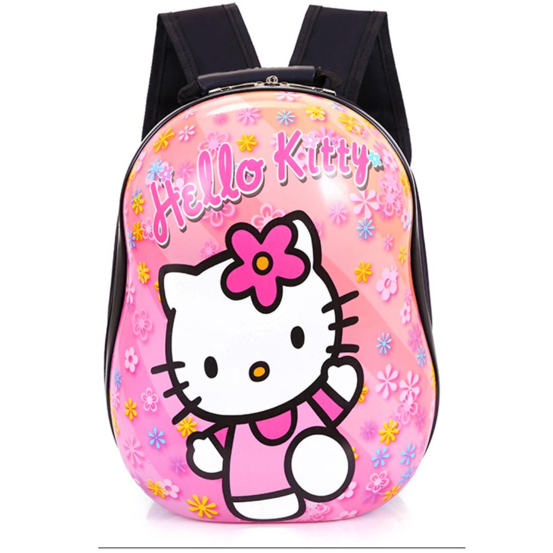 c736562c08 13 INCH HELLO KITTY Cute Egg Hard Shell Fashion Waterproof Backpack ...