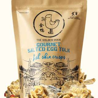 The golden duck salted egg yolk fish skin