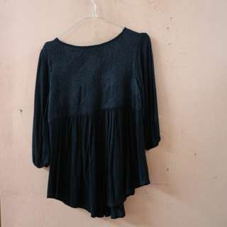 Baby Doll Black Top