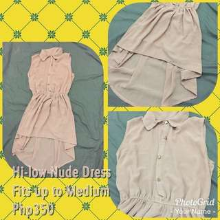 **Repriced** Nude Collared Dress