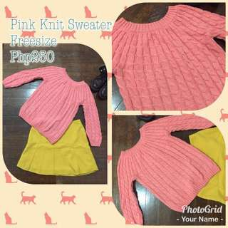 **Repriced** Pink Knit Pullover