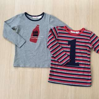 Red & Grey Long Sleeves Tshirt Set