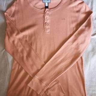 Round Neck Orange Pullover
