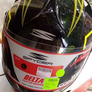 Brand New Spyder Delta Helmet modular Dual visor