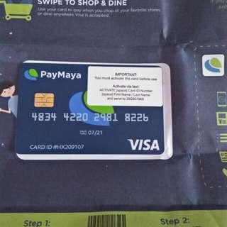 PayMaya Visa Card
