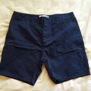 Men Calvin Klein navy chino shorts