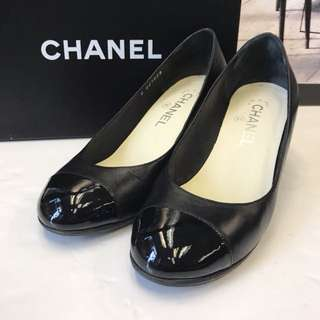 Chanel Leather Wedges