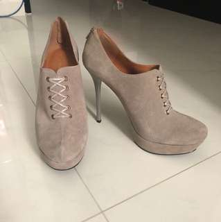 Boots /Platform Covered / Bootie , Taupe colour