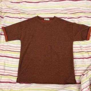復古反折袖T恤 XL