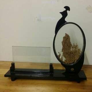 榕樹木藝術雕繪擺設