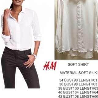 H&M Soft Silk/Satin Blouse