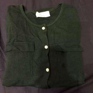 🚚 ::正韓::深綠色針織外套