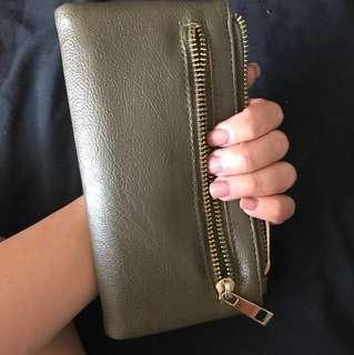 Olive green wallet