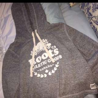 Roots grey cropped hoodie