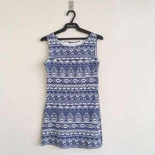 Aztec body con dress