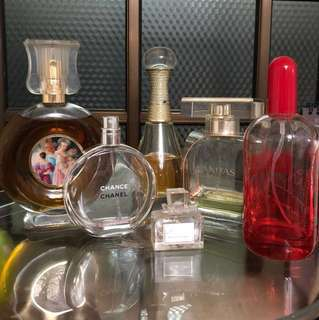 Assorted Perfumes bottles