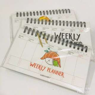 Sushi weekly planner #1212YES