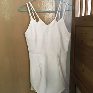 Lovet White Laced Romper