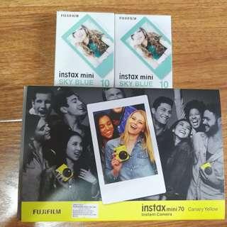 Fujifilm instax mini 70 yellow new unopen