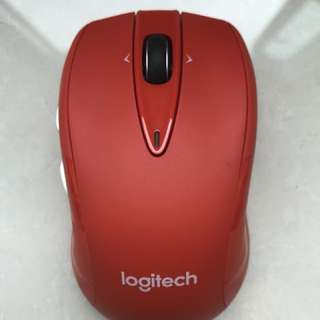 Logitech M545 Red Premium Wireless Mouse with Unifying and Horizontal Scroll