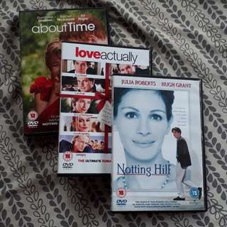 REPRICED 3 Movies DVD Set (Notting Hill, Love Actually, About Time)
