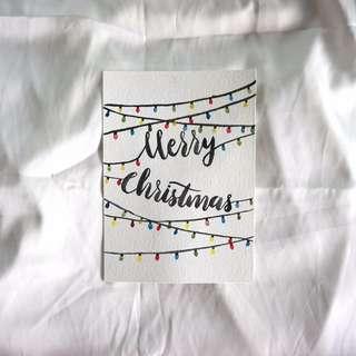 Christmas cards, handmade cards, christmas cards set of 5, christmas postcard