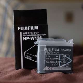 Fujifilm W-126 battery