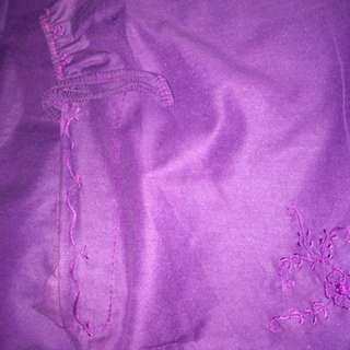 Mukena ungu katun jepang