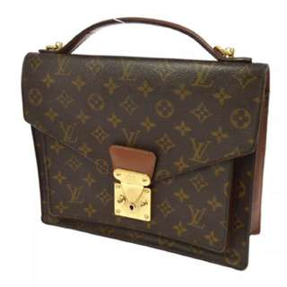 LOUIS VUITTON monceau gm monogram satchel