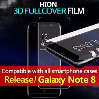 ★Hion 3D Curved Tempered Glass/Note8/S8/S7 Edge/iPhone 8