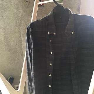 黑綠格 襯衫 無印良品 MUJI M號
