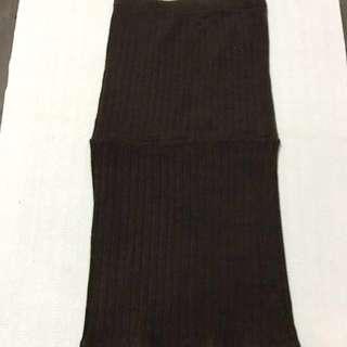 修身針織毛衣連身裙衣 兩穿 咖啡 #幫你省運費 #好物任你換